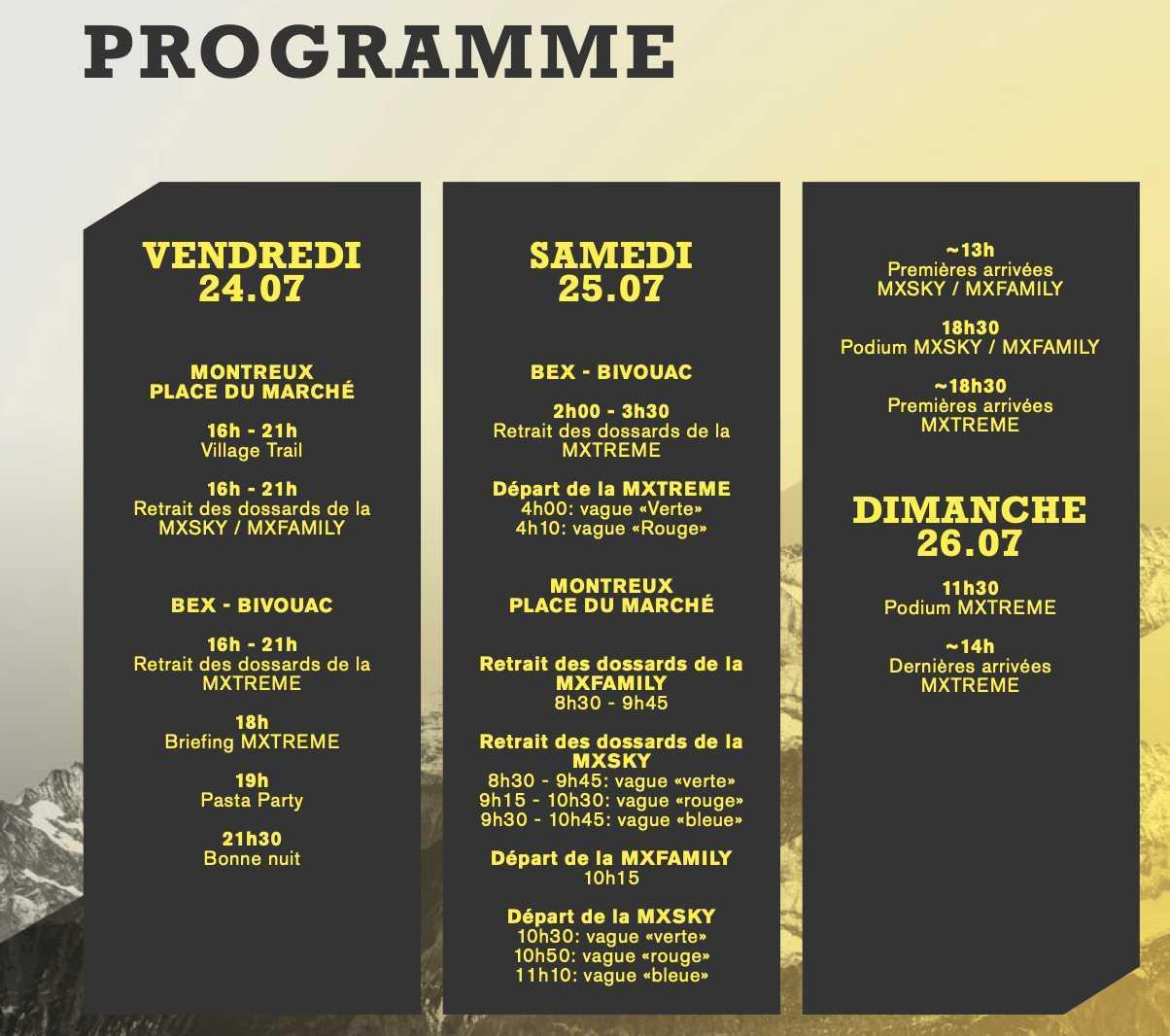 Montreux programme